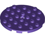 Plate, Round 6 x 6 with Hole, Dark Purple (11213 / 6216908)