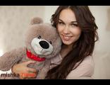 Плюшевый мишка Тихон 60 см кофейный Россия