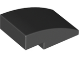 Slope, Curved 3 x 2 No Studs, Black (24309 / 6147790)