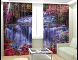 Фотошторы - Кристальный водопад в лесу