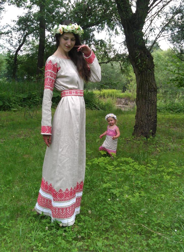 Женская славянская рубаха своими руками 53