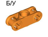 ! Б/У - Technic, Axle and Pin Connector Perpendicular 3L with Center Pin Hole, Orange (32184 / 4154523 / 4249017) - Б/У