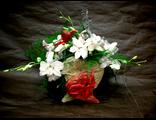 Композиция из орхидей Валентинка