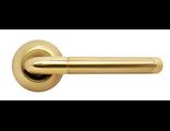 Дверные ручки RUCETTI RAP 2 SG/GP Цвет Матовое золото/золото