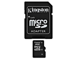 Карта памяти 4Gb MicroSD Kingston Class 4 + adapter