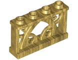 Fence Ornamental 1 x 4 x 2 with 4 Studs, Pearl Gold (19121 / 6097234)