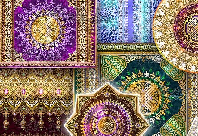 казахские орнаменты скачать