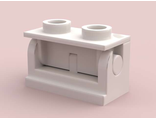 Hinge Brick 1 x 2 Base with Matching Color Hinge Brick 1 x 2 Top 3937 / 3938, White (3937c01)
