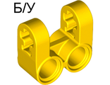 ! Б/У - Technic, Axle and Pin Connector Perpendicular Double Split, Yellow (41678 / 4187125) - Б/У