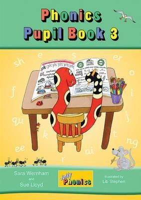 Jolly Phonics Pupil Book 3 (colour edition) in Precursive Letters