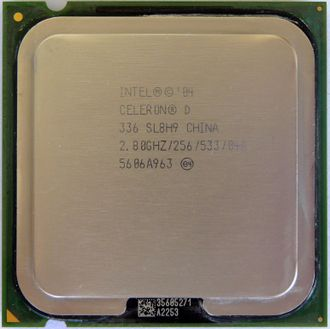 Процессор Intel Celeron D 336 2.8 Ghz socket 775 (533) (комиссионный товар)