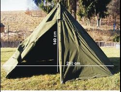 Poola telk-mantel / Польская палатка, сборная из 2х плащ-палаток