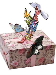 Салют из 17 разноцветных бабочек.