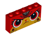 Brick 1 x 5 x 2 with Angry Ultrakatty Pattern, Red (39266pb02 / 6251084)