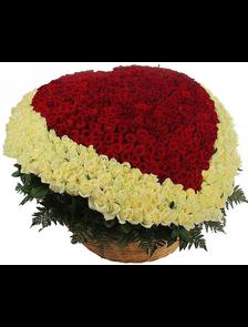 Композиция 1001 роза Премиум Сердце