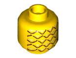 Minifig, Head with Pineapple Pattern - Stud Recessed, Yellow (3626cpb1018 / 6055385)
