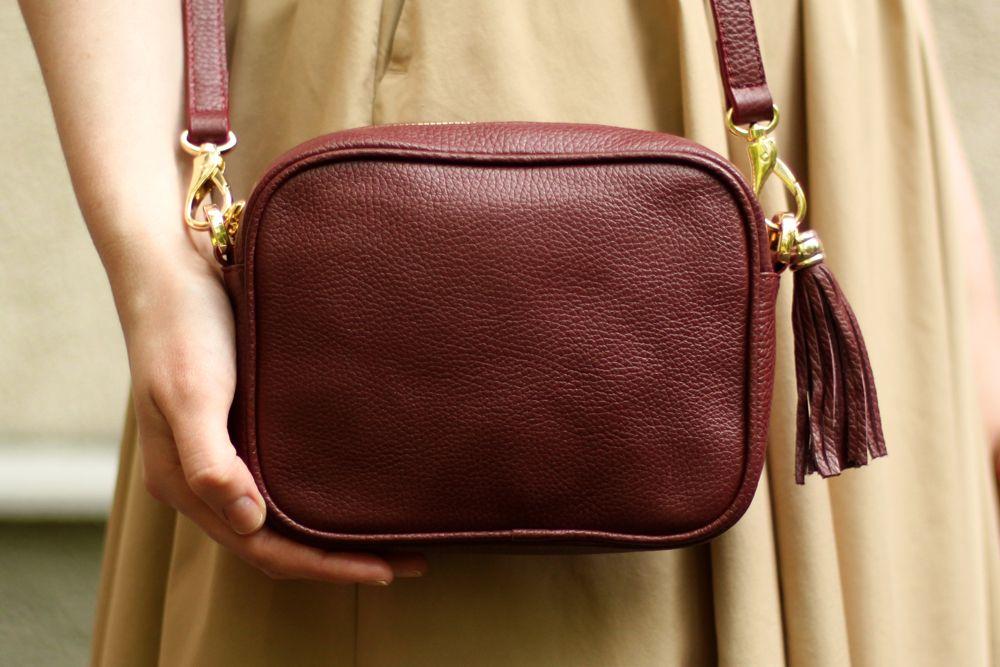 124167f6bc27 Купить бордовую сумку Leah