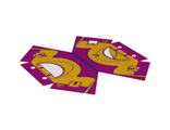 Plastic Tent with Dark Purple Ridge Line and Bright Light Orange Friends Flap and Butterfly Pattern, Magenta (25651)
