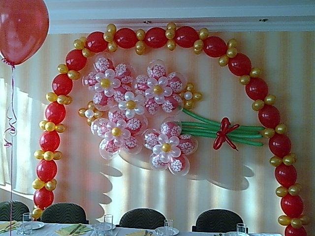 Декор зала своими руками на юбилей