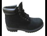 Ботинки Timberland черные с мехом