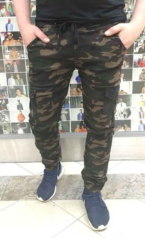 bf6293b5 Камуфляжные джоггеры - Мужские брюки чиносы камуфляжные темно зеленый