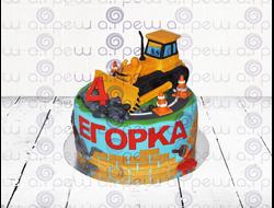 """Торт № 6 """"С трактором"""" (Детские торты)"""