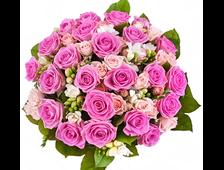 47 роз розовых букет Альянс