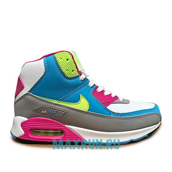 Кроссовки Nike Air Max 90 С МЕХОМ женские серые ae43982e7ec