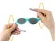 Солнечные очки для малышей Real Kids с гибкими дужками черный красный