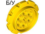 ! Б/У - Technic Tread Sprocket Wheel Large, Yellow (57519 / 4494518) - Б/У