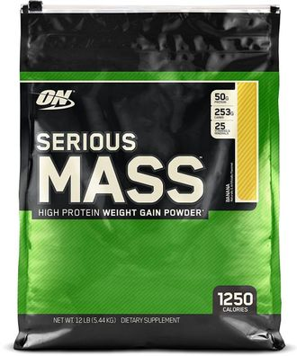 (Optimum Nutrition) Serious Mass - (5,44 кг) - (ваниль)