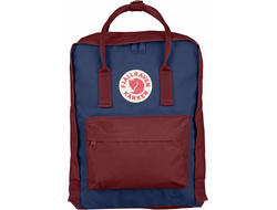 Рюкзак Fjallraven Kanken Royal Blue - Ox Red (Mini)