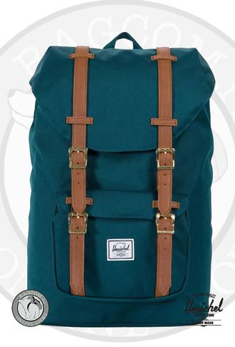 Herschel Little America Mid Volume Deep Teal/Tan Synthetic Leather