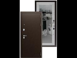 Входная Металлическая дверь СПАРТАК с Зеркалом 100 мм