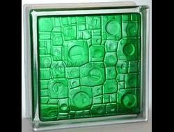 Стеклоблок Vitrablok окрашенный внутри губка изумрудный