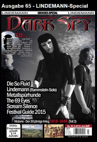 DARK SPY Magazine № 65 Rammstein, Die So Fluid Cover, Lindemann Special ИНОСТРАННЫЕ МУЗЫКАЛЬНЫЕ ЖУРН