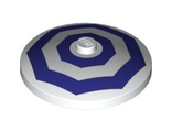 Dish 4 x 4 Inverted Radar with Solid Stud with 2 Dark Purple Octagons Pattern, White (3960pb020 / 4616174)