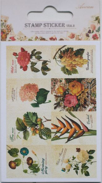 "Наклейки ""Lovely Stamps. Flower"""