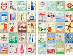 "Наклейки ""Stamps. Love Travelling"""