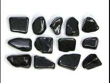 Шунгит, галтовка в ассортименте (18-25 мм, 3-4 г) №22844