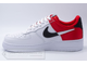 Кеды Nike Air Force 1 '07 Red/White мужские арт. N805 сзади