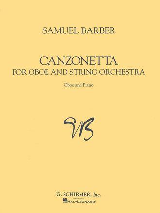 Barber, Helmut Canzonetta for oboe and string