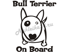 Наклейка на авто Bull Terrier on board