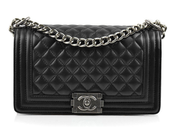 Сумка Chanel Boy Quilted Lambskin Flap Bag Black