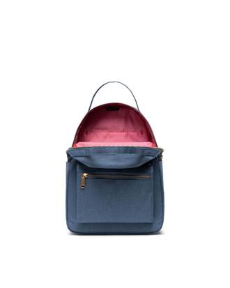 Рюкзак Herschel Nova Small Blue Mirage Crosshatch в открытом виде