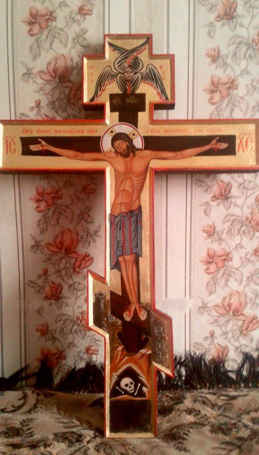Иконописный крест купить, изготовление иконных досок