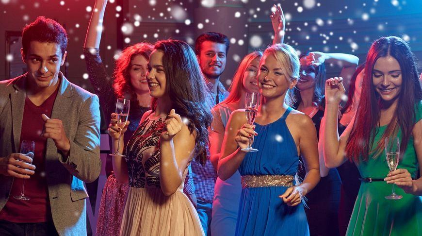 новый год в ночном клубе