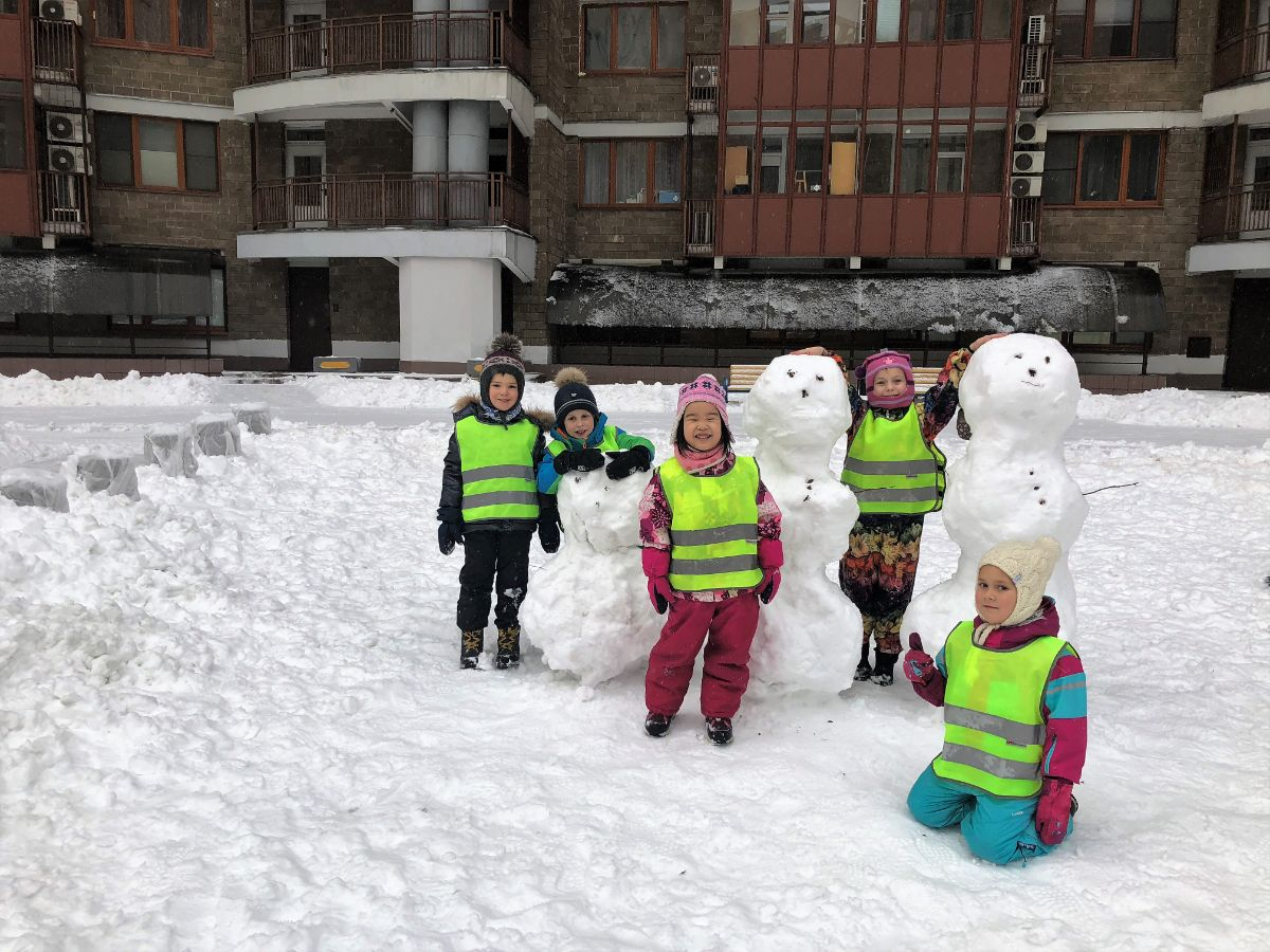 winter kids photo
