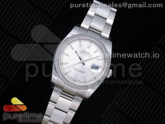 DateJust 36 SS 116234 ARF 1:1 Best Edition 904L Steel Silver Dial on Oyster Bracelet SH3135 V3