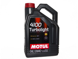 Масло MOTUL 4100 Turbolight 10/40 моторное п/с 4л, кат.№ 83090